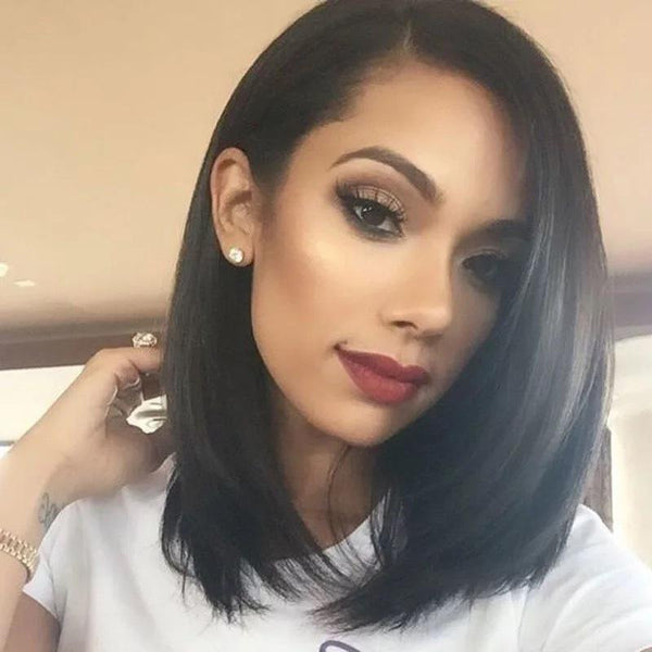 Straight Short Human Hair Wigs 150% Density 13X4 Straight Bob Lace Front Wig Lace Front Human Hair Wigs