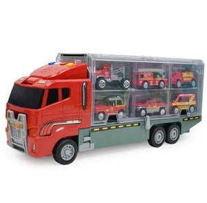 Container Ship (including 6 cars) Large Truck Model Car Toy Set
