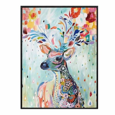 European Elk mural art painting modern minimalist decorative oil painting