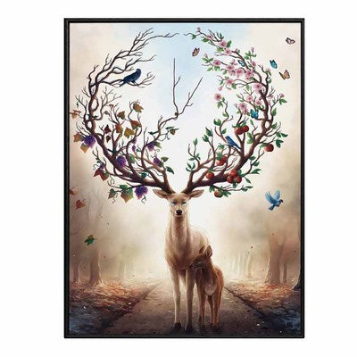 European Elk mural art painting modern minimalist porch decorative oil painting