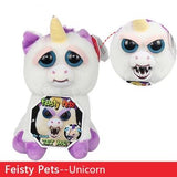 Toys 2019 New Feisty Pets Roaring Angry Toy Children Gift Change Face Stuffed Animal Doll Plush Toys For Kids Cute Prank toy