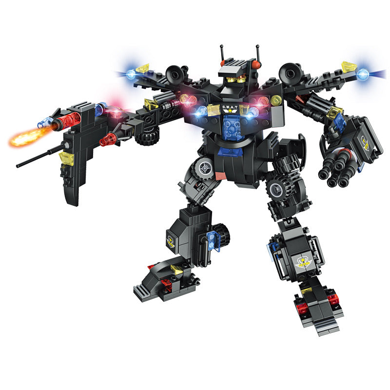 8 IN 1 Robot Aircraft City Police Car