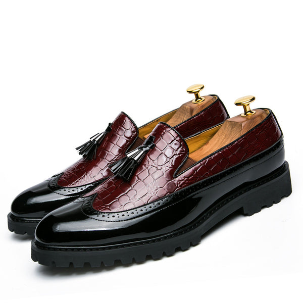 2020 Plus Size Men's  Pointed Leather Shoes