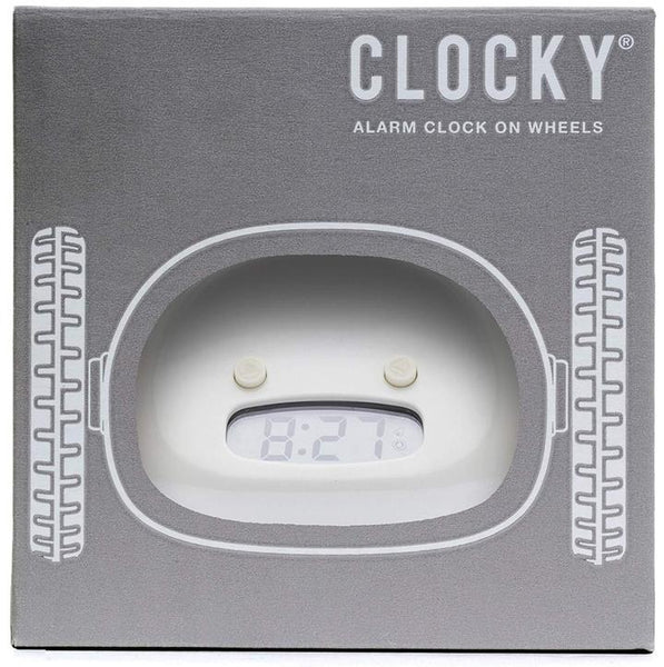 RUNAWAY ALARM CLOCK: NO.1 in America Get Out of Bed and Wake Up on Time with Programmable Snooze | Jumps Off Night Stand and Rolls Away