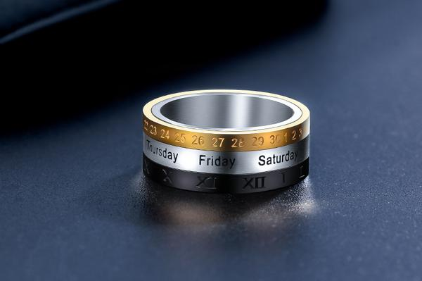 The Titanium Steel Multi-layer Rotating Ring - Stylish and A Little Fun