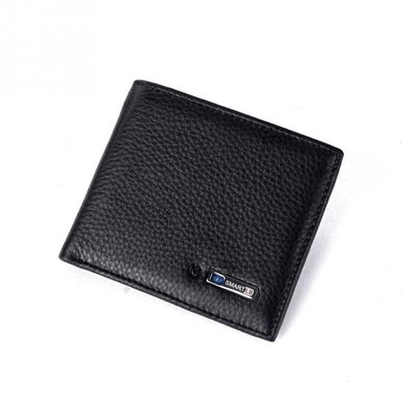 Anti-lost wallet - Men Cowhide Leather Bifold Wallet