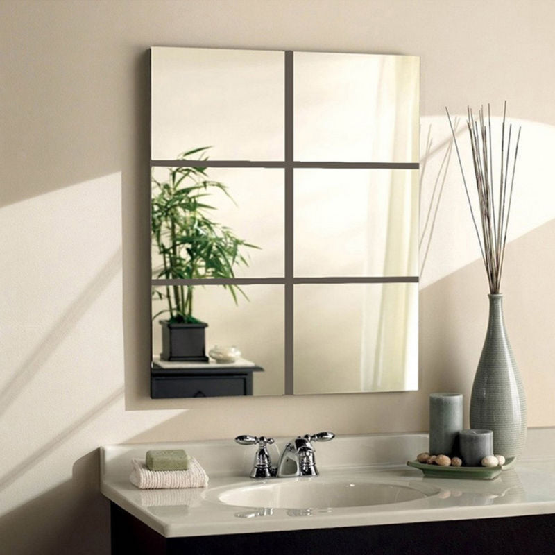 Mirror surface wall sticker bathroom sticker PS Vinyl Room Decoration Self Adhesive High Quality Furniture Mirror