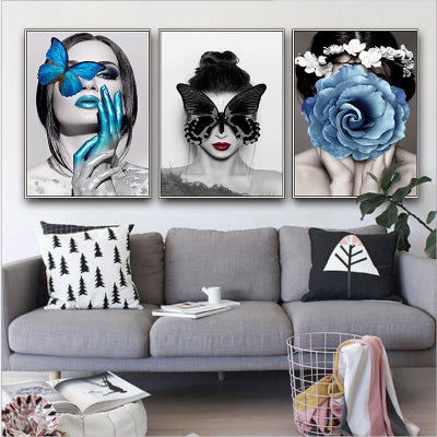 Modern minimalist decorative painting corridor beautiful paintings Nordic living room sofa study personality art mural