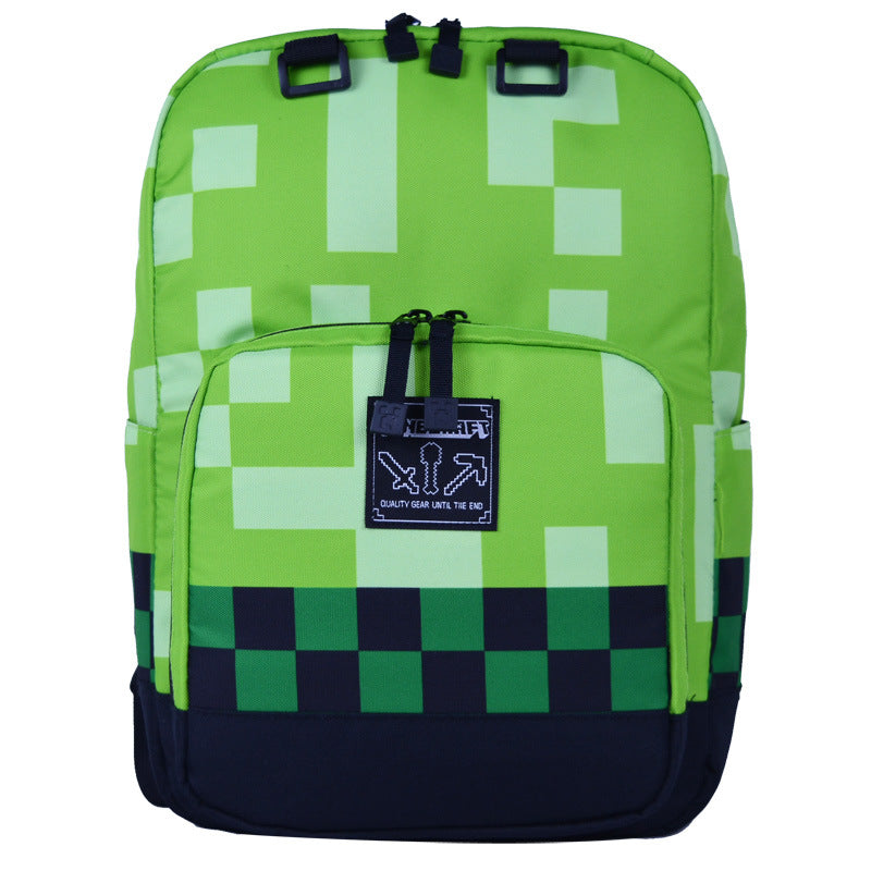 New Anime Minecraft School Bag Cool for Fear Backpack Student's Decompression Shoulder Bag