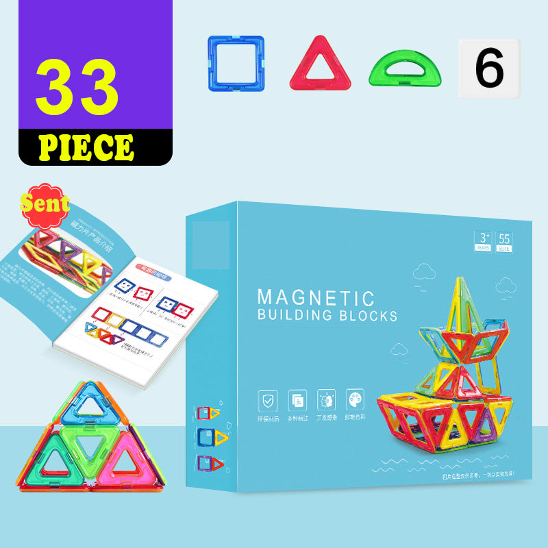 Magnetic piece building block toy