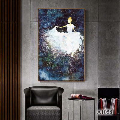 Ballet girl art painting modern minimalist porch decorative painting