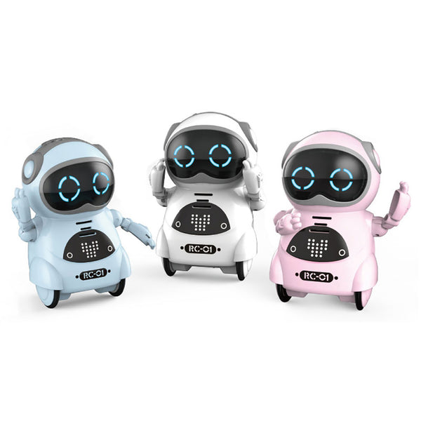 939A Pocket RC Robot Talking Interactive Dialogue Voice Recognition Record Singing Dancing Telling Story Mini RC Robot Toy