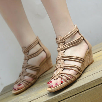 New women's sandals Roman style vacation beach seaside Roman shoes