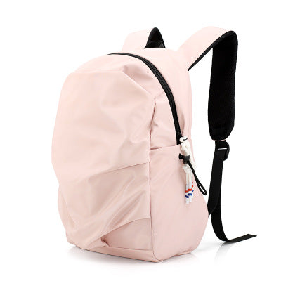 【HOT Saleing】Nylon backpack female lightweight large-capacity fashion wild men and women bag backpack - pink