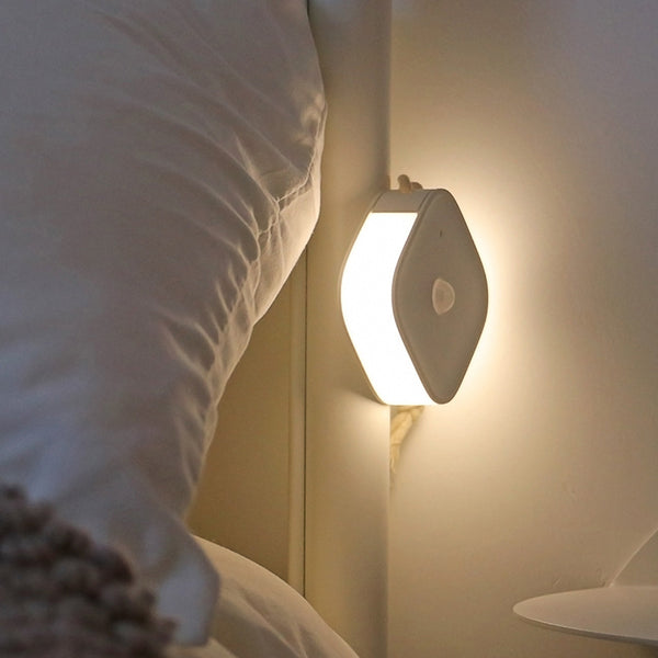 Intelligent magnetic absorption energy-saving LED bedside lamp with human body induction night lamp porch