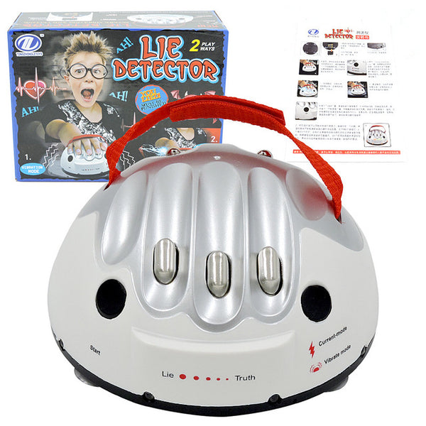 Micro Electric Shocking Lie Detector Tricky Polygraph Test Truth Dare Party Game Analyzer Truth Shocking Liar