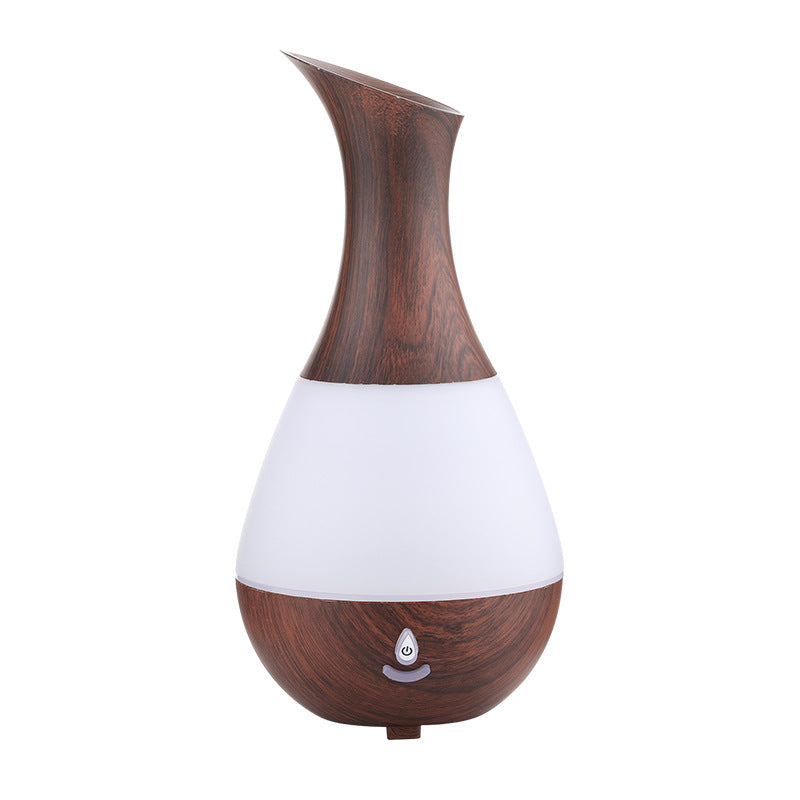 230ml Waterdrop Leaf Shaped USB Charge Ultrasonic Air Purifier Aroma Diffuser Mist Humidifier Bluetooth Speaker LED Light Change