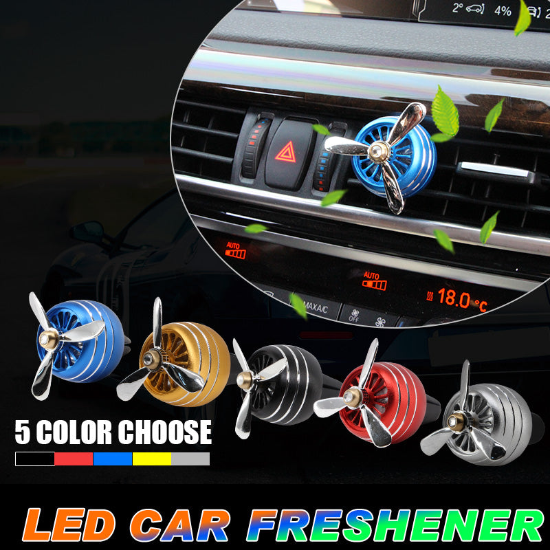 Car Air Freshener Smell LED Mini Conditioning Vent Outlet Perfume Clip Fresh Aromatherapy Fragrance Auto Diffuser Accessories