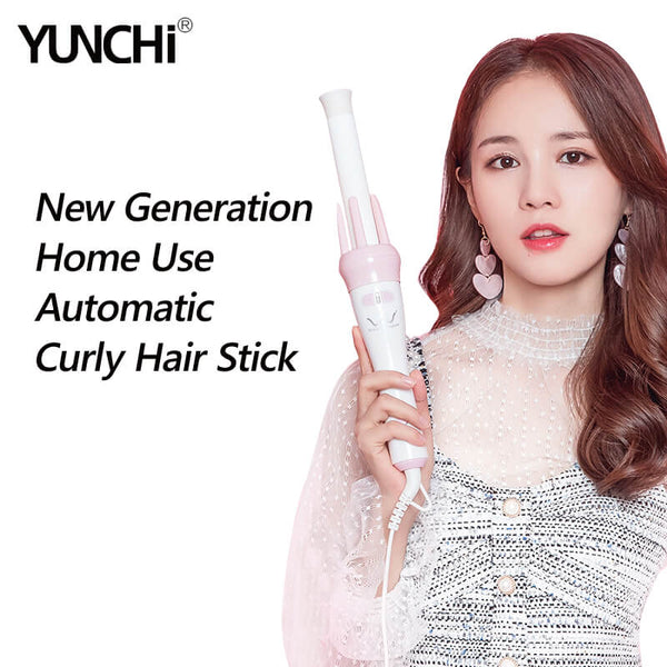 Automatic Curly Hair Stick Hair Curler Fast Styling in 5 Min Ceramic Heating Tube Nourish Hair with Plant Protein Coating