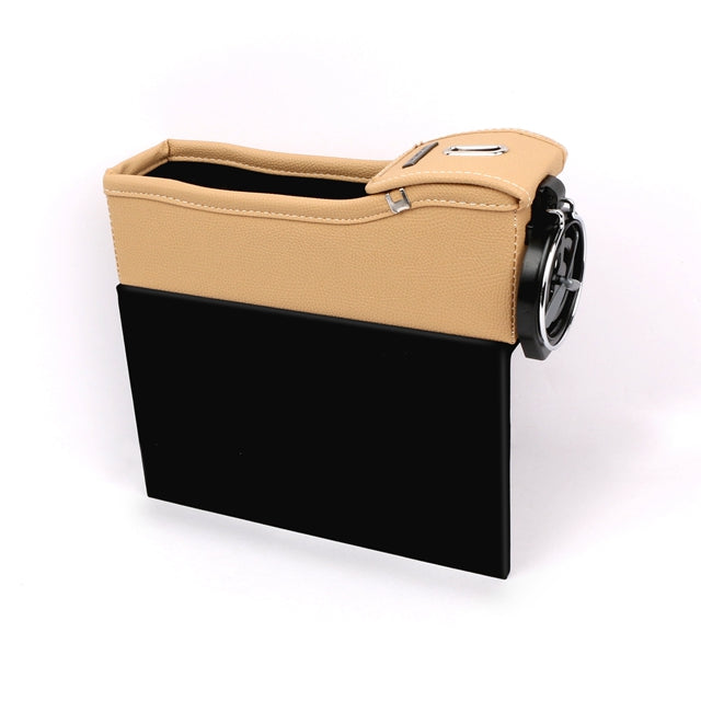 Leather Car Seat Crevice Storage Bag Box Money Pot Beverage Holder Car Seat Pocket Organizer