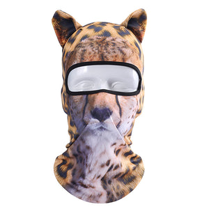 3D Stand Ears Animal Face Mask - for Music Festivals, Ski, Halloween, Party Outdoor Activities