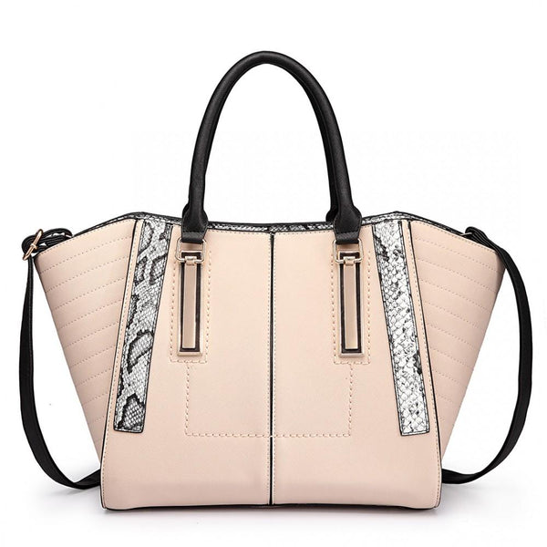 Miss Lulu NEW TREND - Large Patchwork Shoulder Bag AA0005