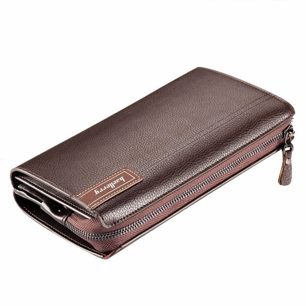 Business Clutch Bag Large Capacity Men Wallets Cell Phone Pocket Passcard Pocket High Quality Multifunction Wallet For Men