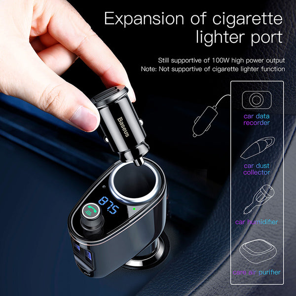 Bluetooth Car Charger MP3 Audio Player FM Transmitter Xiaomi Handsfree Aux Modulator Dual USB 3.4A Car Mobile PhonCharger