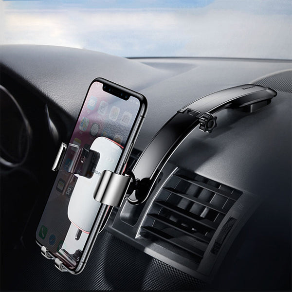 Metal Car Holder For iPhone X Samsung S9 Mobile Phone Holder Stand Gravity Air Vent Mount GPS Car Phone Holder Bracket
