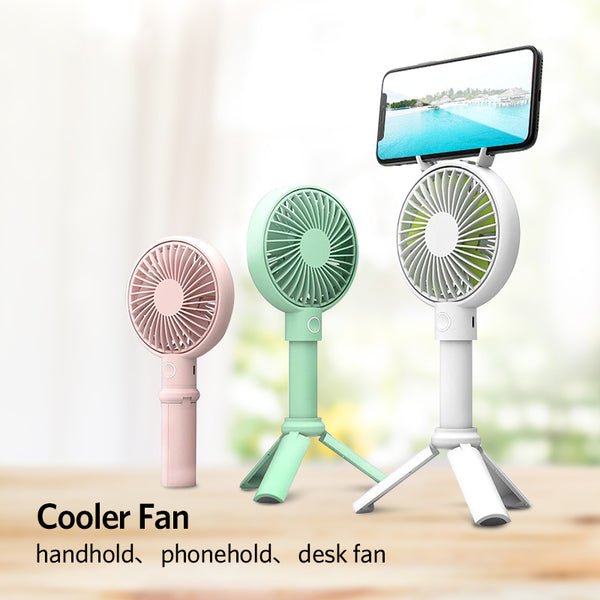 Handheld USB Fan Cooler Portable 3 Speed Adjustable Mini Fan 3350mAh Rechargeable Handy Small Desk Desktop USB Cooling Fan