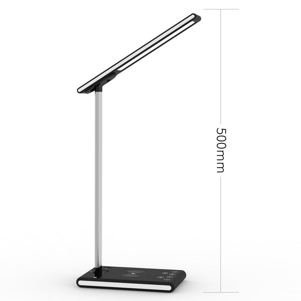 Multifunction Dimmable LED Lamp Table Desk Phone Wireless Charging Pad Cell Phone Charger Holder Stand Foldable Desktop Light for X8 (Influencer Recommend)