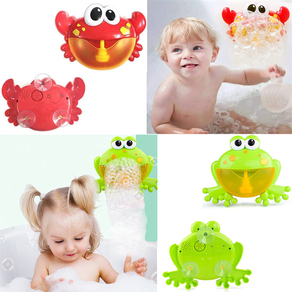 Baby bath toys outdoor big crab bubble machine