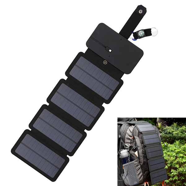 Board Mobile Phone Charger Solar Powered Charging Treasure Package Panels Bag Portable Folding