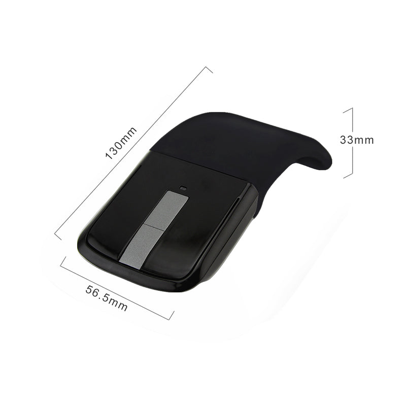 Bluetooth Wireless Arc Touch Mouse 1200DPI Optical Folding Slim Notebook Mause Ultra Thin Computer Mice For Microsoft PC