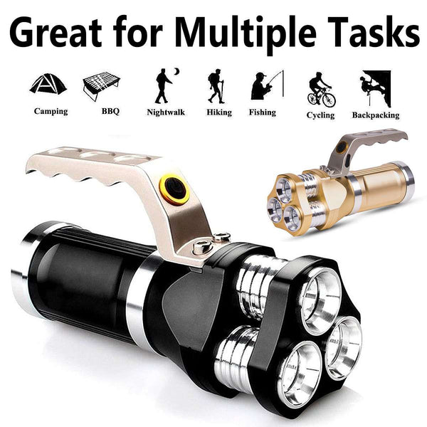 LED Flashlight 3000-9000lm 3x T6 Super Bright Lighting 3Modes