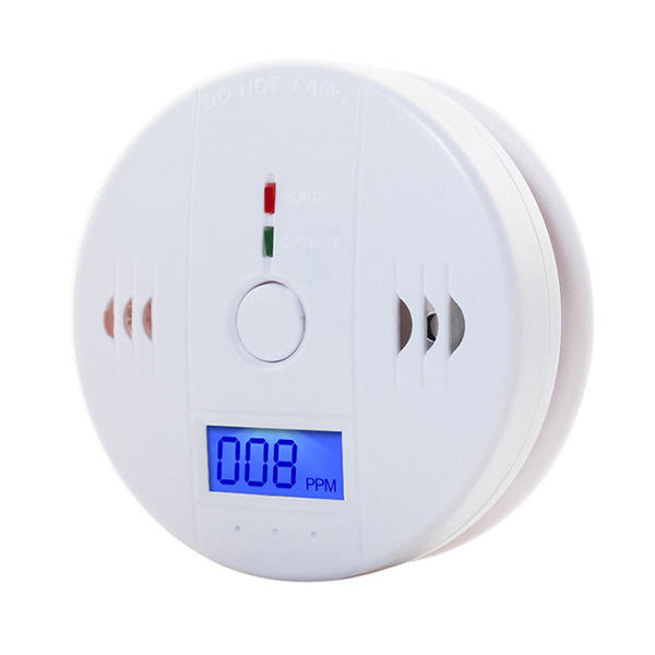 CO Sensor Carbon Monoxide Poisioning Detector , Carbon Monoxide Alarm with LCD Display