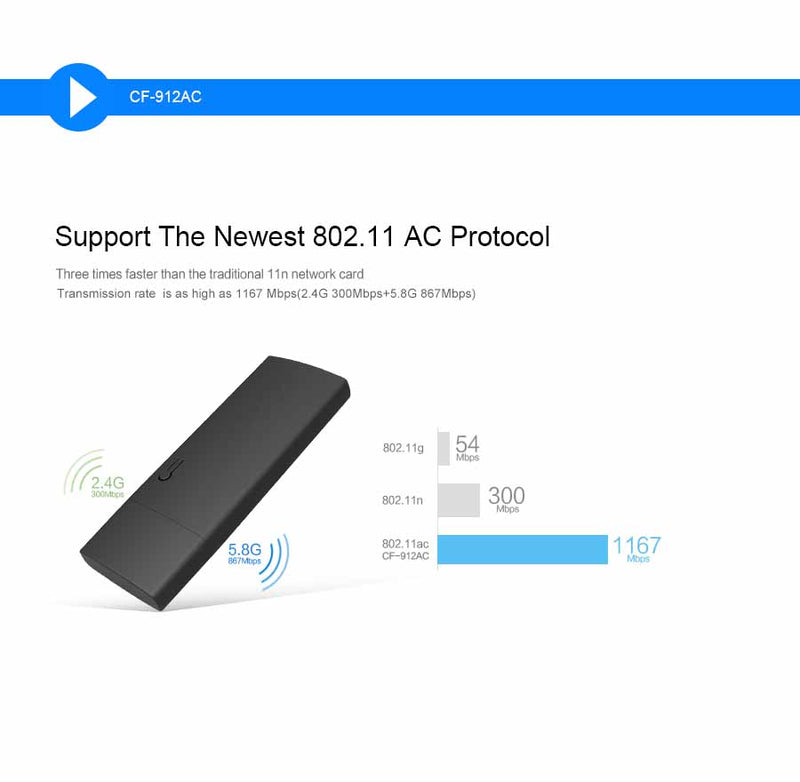 Wifi adapter dual band usb 3.0 wireless network card wifi