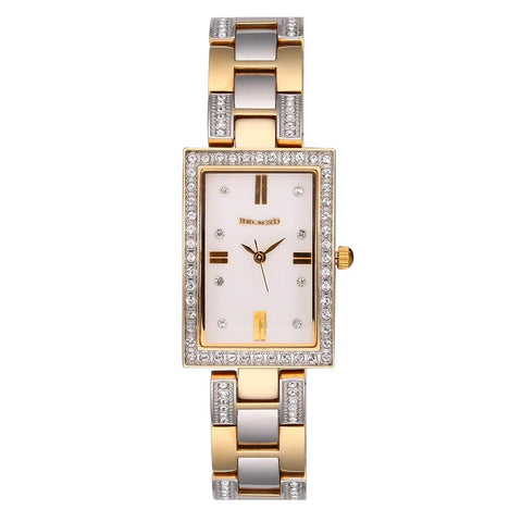 Ladies Fashion Mineral Crystal Waterproof Wristwatch