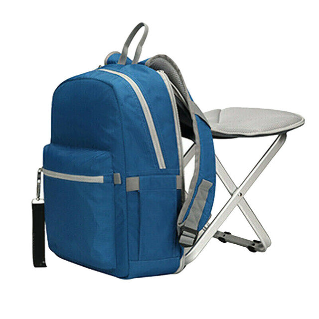 Camping Travel Folding Chair Backpack Wearable Outdoor Stool Bag Waterproof Portable and Detachable