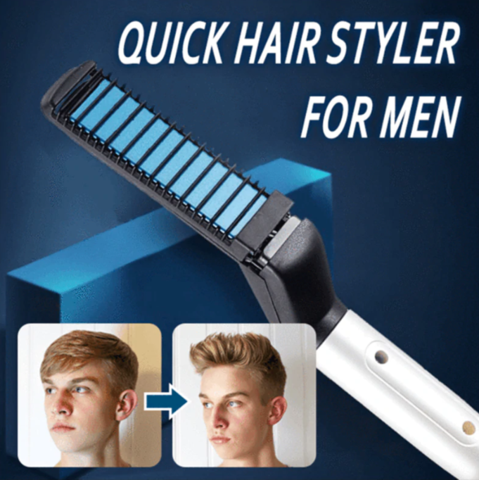 Hair Styling Iron Comb Beard Starighthener Curler