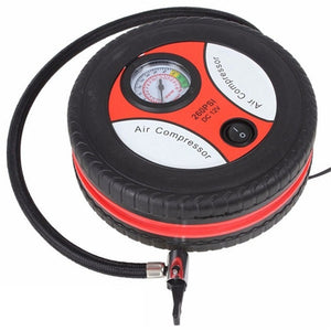 Car Mini Inflatable Pump Electric Tyre Pressure Monitor Compressor Portable PSI 12V Air Pumping Tire Pumps for Bike Motor Ball