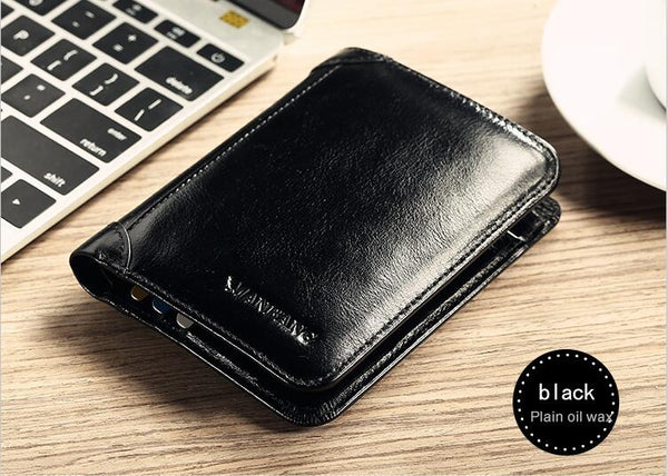 Classic Style Wallet Genuine Leather Men s Short Male Purse Card Holder Fashion High Quality