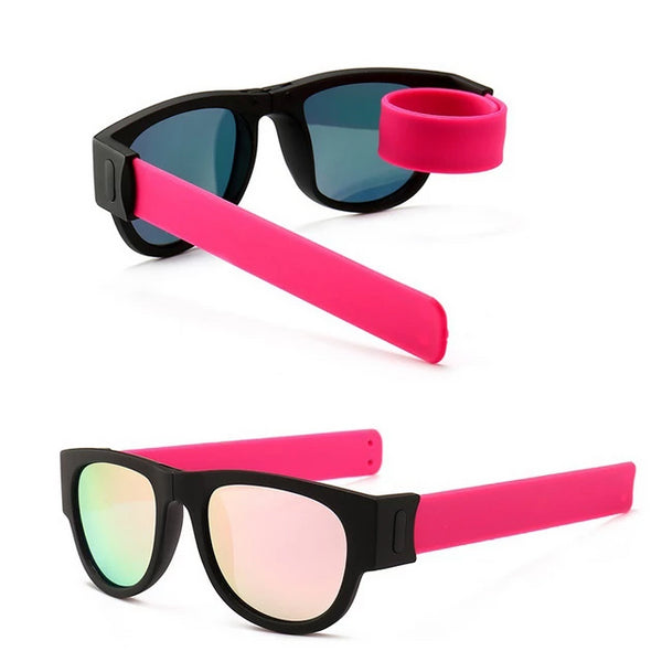 Frog Mirror Wrist Folding Sunglasses Circle Round Sunglasses Bracelet Outdoor Fold Sunglasses