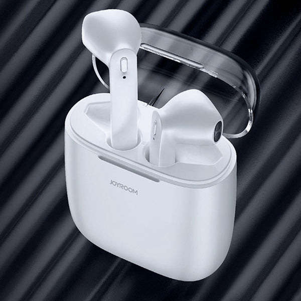 JOYROOM JR-T04 TWS Bluetooth Earbuds with Mic IPX5 Water Resistant - White