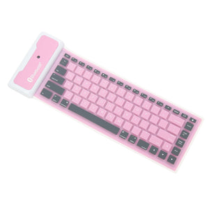 Foldable Waterproof Universal Bluetooth Wireless Soft Silicone Keyboard For Laptop For iPad New Smart Phone Keyboard