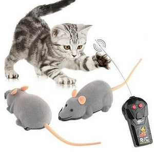 Cat toy Rotary remote mouse Electric wireless simulation mouse flocking pet toy