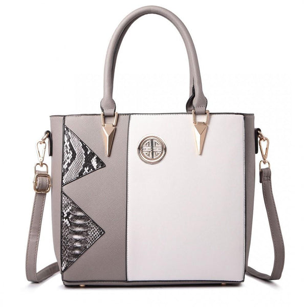 Miss Lulu New Fashion Split Front Snake Print Tote Bag