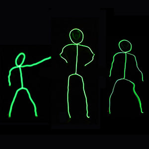 EL Cosplay Led Costume Dance Wear Matchstick Men Costume DIY cloth gift