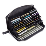 Genuine Leather Credit Card Holder for Men Money Long Wallet Multifunctional Purse