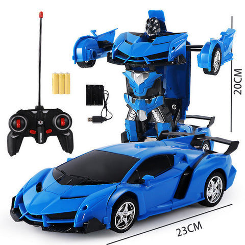 [2Pcs save 77SAR] 1:18 Electric Remote Control Car One Button Remote Control Deformable Vehicle Robot simulation model car